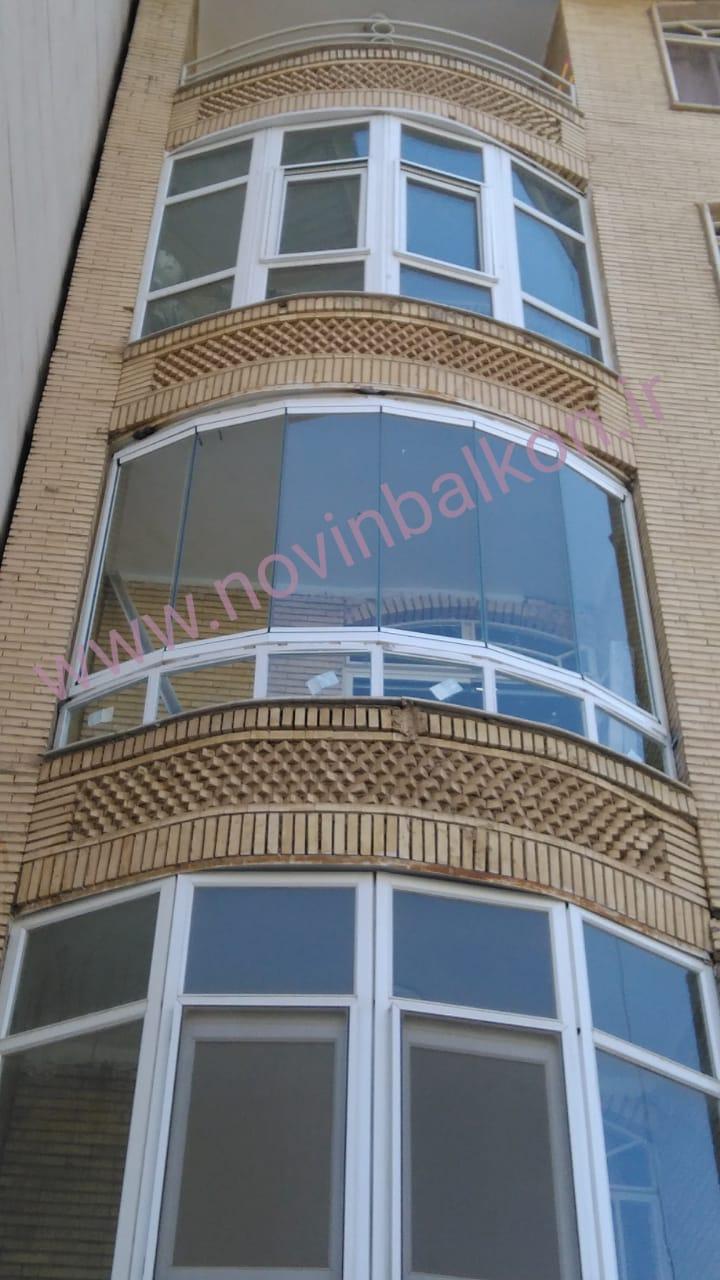 طراحی و اجراء شیشه بالکن ریلی